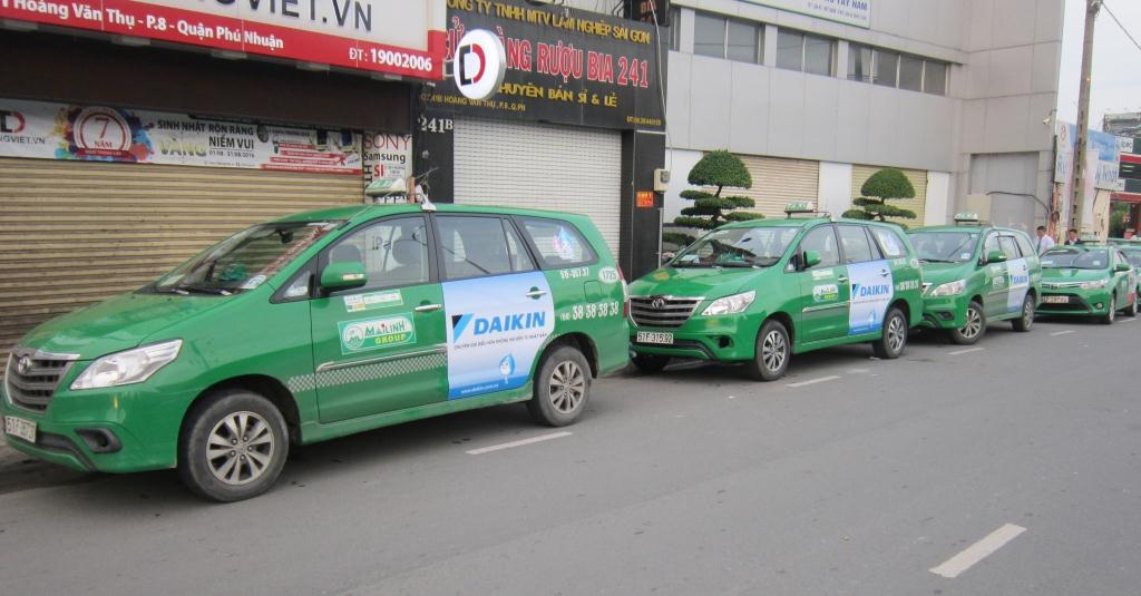 The ads on the taxi not only attract the viewer but also create the beauty of the color by the images on the taxi carrying on them.