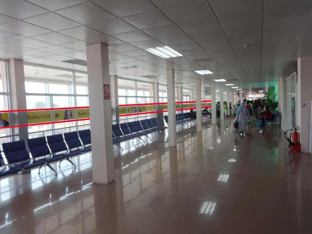 Advertising the waiting area at the International and Domestic Terminal
