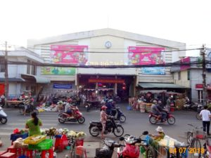 Advertising Koreno market area Hoc Mon market