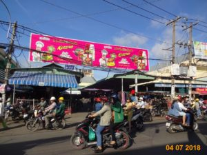 market advertising for brand Koreno location An Nhon market