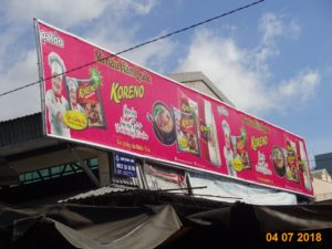 Advertising brand Koreno area market Nguyen Van Troi